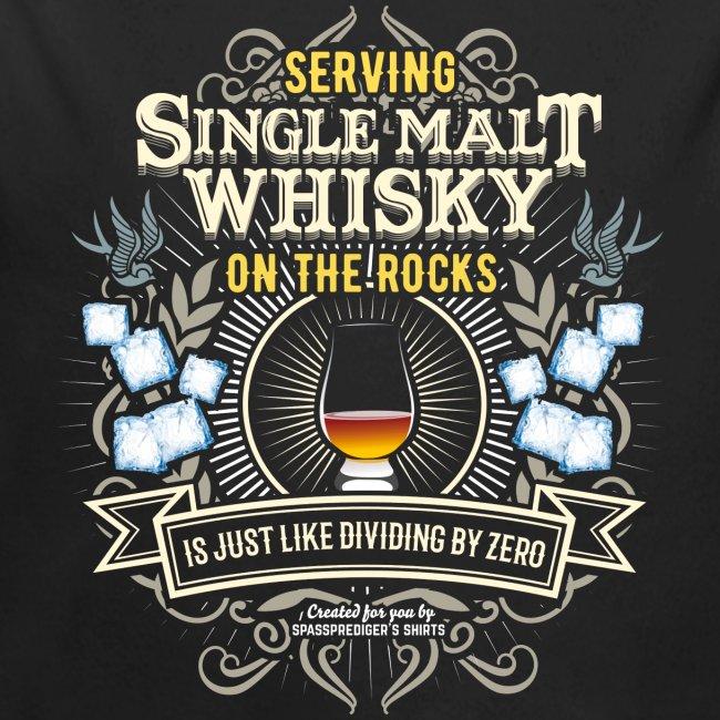 Whisky T Shirt Single Malt on the Rocks