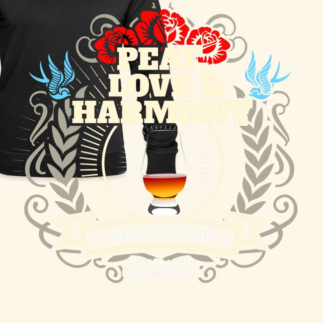 Whisky T Shirt Peat Love & Harmony