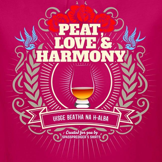Whisky T Shirt Peat Love & Harmony