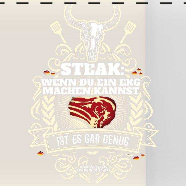 Grill T Shirt Steak   witziger Spruch
