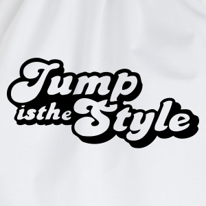 Wit jump is the style pimp Kinderkleding - Gymtas