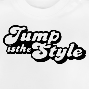 Wit jump is the style pimp Kinderkleding - Baby T-shirt