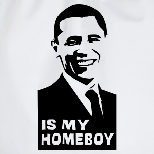 Obama is my homey!  - Drawstring Bag