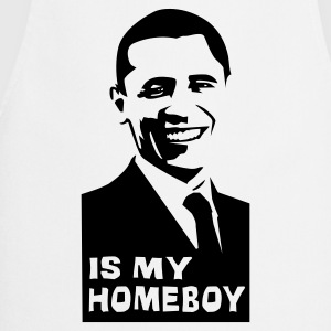 Hvit Obama is my homeboy T-skjorte - Kokkeforkle