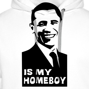 Weiß Obama is my homey! T-Shirt - Männer Premium Hoodie