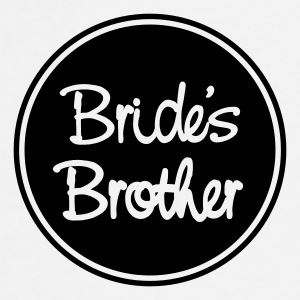 Vit Bride's brother T-shirt - Förkläde