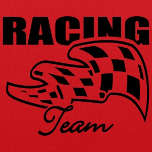 Rot Racing Team T-Shirt - Stoffbeutel