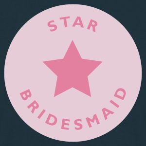 Navy Star Bridesmaid Männer Langarm - Männer T-Shirt