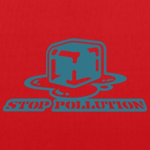 Rot Stop Pollution T-Shirt - Stoffbeutel