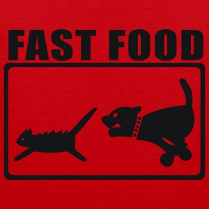 Red Fast Food T-Shirts - Men's Premium Tank Top