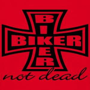 Red Biker Cross Men's Longsleeves - Men's T-Shirt