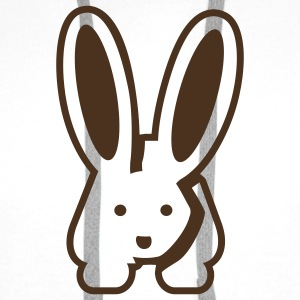 White/black Bunny 2 T-Shirts - Men's Premium Hoodie