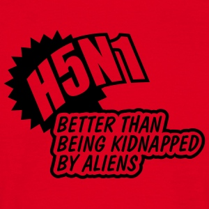 Red H5N1 Aliens Men's Longsleeves - Men's T-Shirt