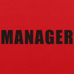 Rood Manager T-Shirts - Tas van stof