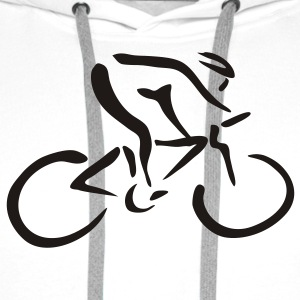 White Bike 3 T-Shirts - Men's Premium Hoodie