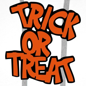Hvit trick or treat T-skjorte - Premium hettegenser for menn