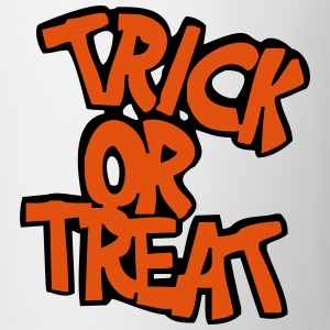 Hvit trick or treat T-skjorte - Kopp