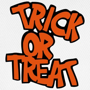 Vit/marinblå Trick or treat? T-shirt - Basebollkeps
