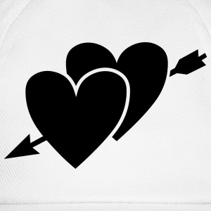 White/black hearts T-Shirts - Baseball Cap