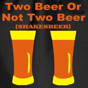 Zwart two beer T-shirts - Gymtas