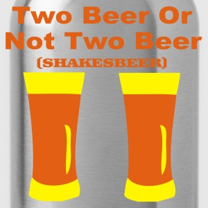 Zwart two beer T-shirts - Drinkfles