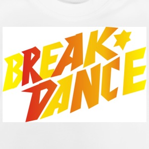 Weiß breakdance Kinder - Baby T-Shirt