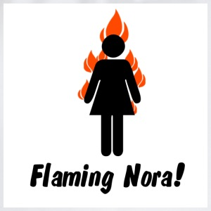 White flaming_nora T-Shirts - Drawstring Bag