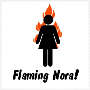 White flaming_nora T-Shirts - Baseball Cap