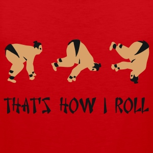 Red Sumo Roll T-Shirts - Men's Premium Tank Top