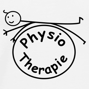 Physio / Physiotherapie Button - Männer Premium T-Shirt