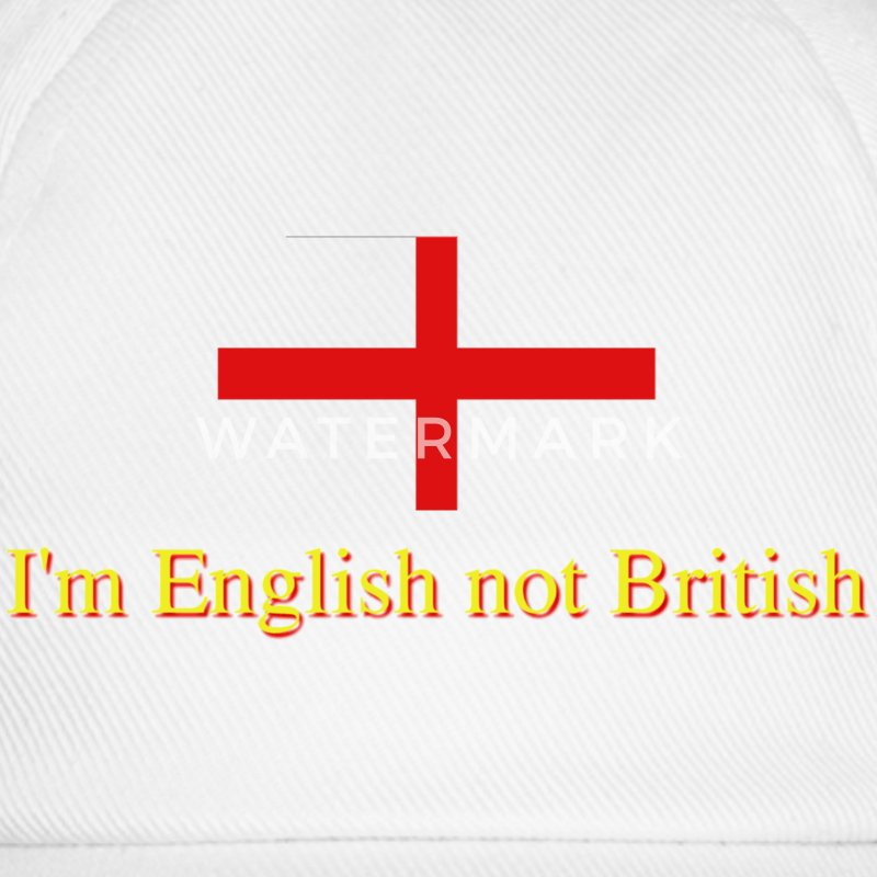 White/white I'm English not British Caps - Baseball Cap