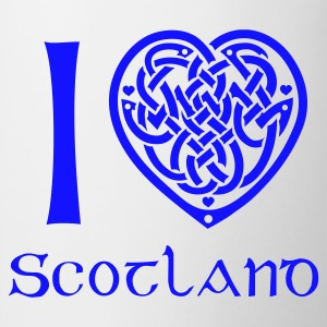 White I love Scotland T-Shirts - Mug