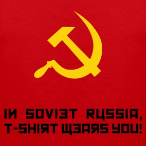 Red In Soviet Russia... T-Shirts - Men's Premium Tank Top