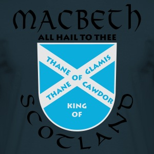 Navy Scotland Macbeth Männer Langarm - Männer T-Shirt
