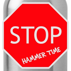 Black/white Stop! Hammer Time T-Shirts - Water Bottle