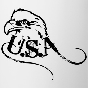 Vit/svart us eagle T-shirt - Mugg