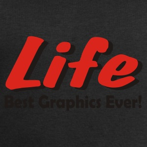 Black LIFE. Best Graphics Ever! Accessories - Men's Sweatshirt by Stanley & Stella