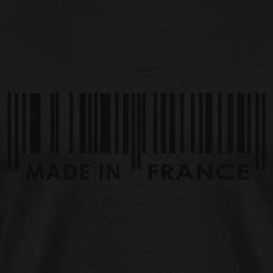 Noir Made in France code barres Manches Longues Hommes - T-shirt Premium Homme