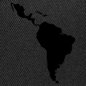 Black/white Latin America - South America T-Shirts - Snapback Cap
