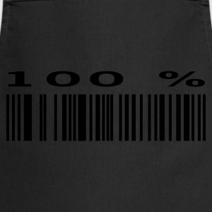 Black Bar Code 100% T-Shirts - Cooking Apron