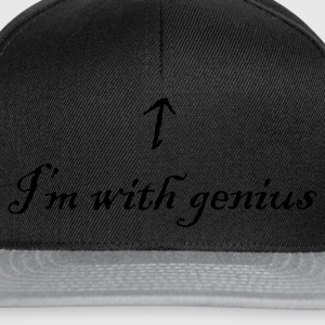 I'm with genius - Snapback Cap