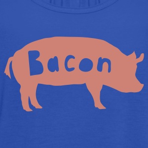 Navy bacon T-Shirts - Women's Tank Top by Bella