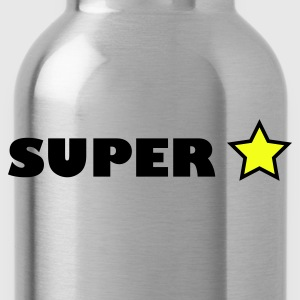 Red super star T-Shirts - Water Bottle
