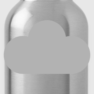 Red weather symbols - cloud T-Shirts - Water Bottle