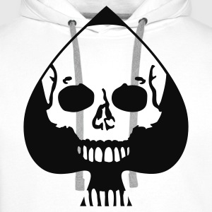 White Ace of Spades T-Shirts - Men's Premium Hoodie