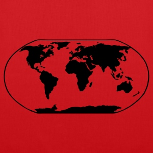 Red World Map T-Shirts - Tote Bag