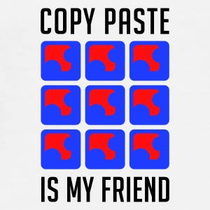 Weiß Copy Paste is my Friend Accessoires - Männer Premium T-Shirt