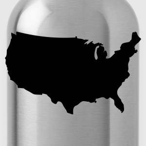 Red USA - United States of America T-Shirts - Water Bottle