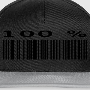 Black 100% Fan - Bar Code T-Shirts - Snapback Cap
