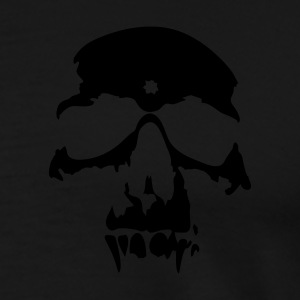 Black skull, halloween, ghost, nightmare, vampire, horror, evil, devil, death Jumpers - Men's Premium T-Shirt